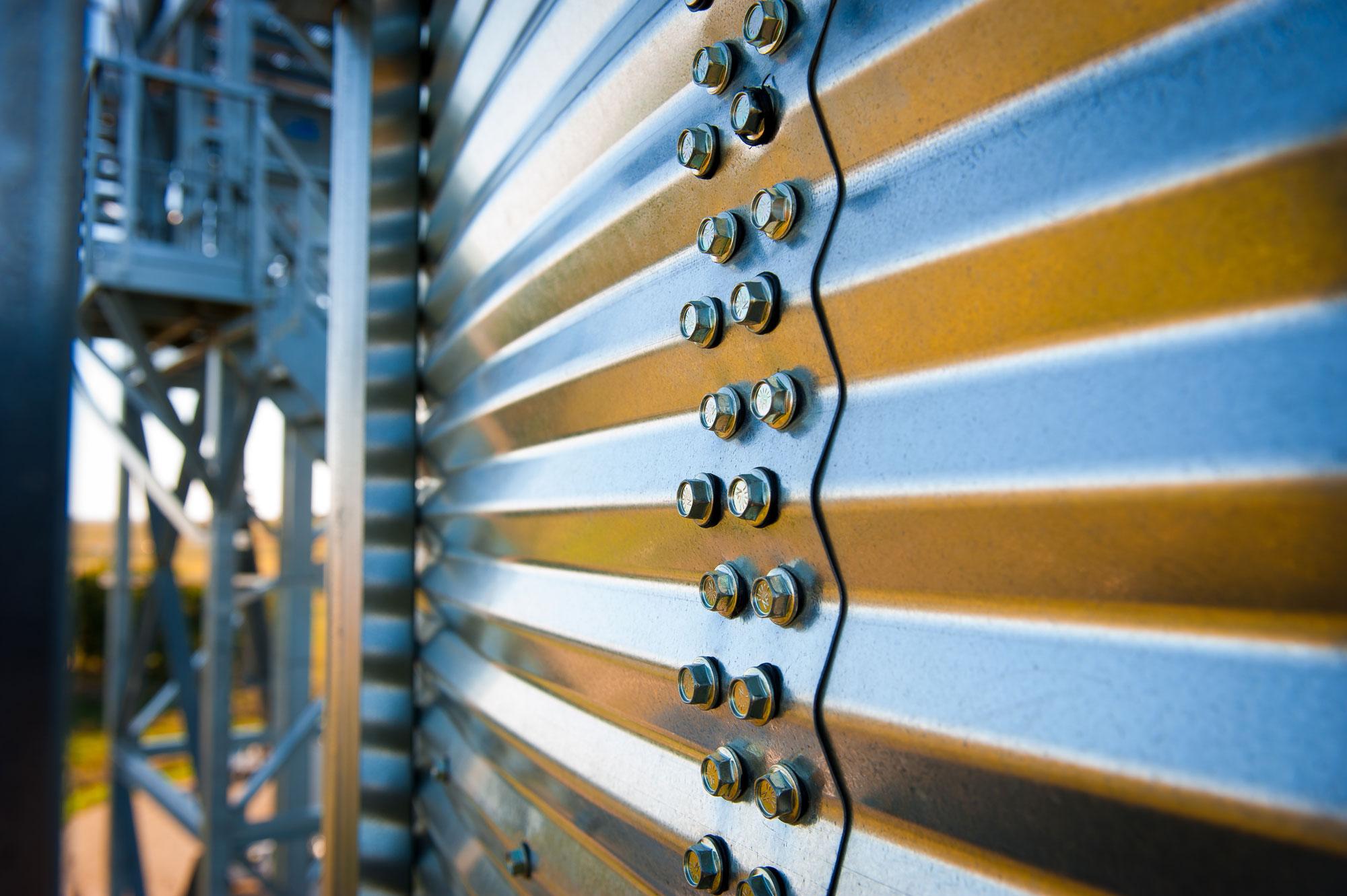 SCAFCO grain bin corrugation closeup