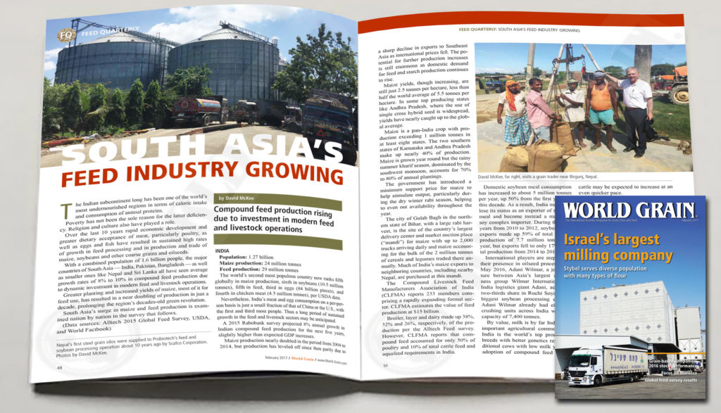 open book picture of world grain article February 2017